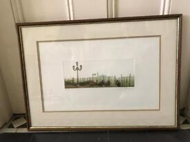 Beautiful Signed Limited Edition Venice Gondola Print Framed In Chiswick