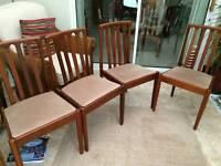 Teak meredew dining chairs x4