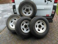 Toyota Hi Lux spare wheels and tyres