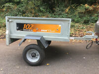 Erde 102 Galvanised car trailer with lock trailor metal box