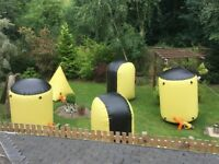 Fantastic inflatable commercial grade paintball / Nerf wars bunkers