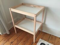 Baby changing table and high chair