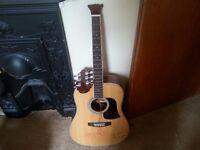 Broken acoustic guitar for sale