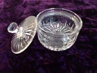 Cut Glass Sweet Jar / Bonbons Jar