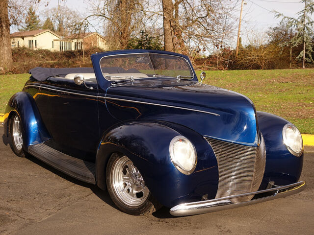 Ford: Other 1940 ford convertible 383 v 8 700 r 4 at a c sapphire blue high end restoration