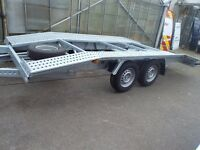 NEW GALAVANISED CAR TRANSPORTER RECOVERY TRAILER 2700KG TWIN AXEL 4.5 M 15FT LONG 2.0 M 6.5FT WIDTH
