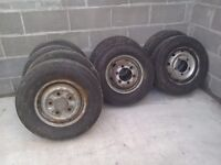 4 transit wheels with tyres