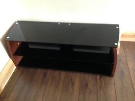 Wood & Glass TV Stand for Sale