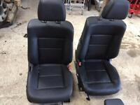 Mercedes e class w212 full black leather interior