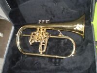 Olds U.S.A. Flugel Horn in double case