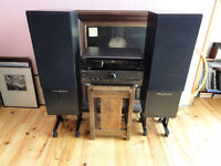Best Hi-Fi System Technics Sony and Wharfedale Speakers with Stands