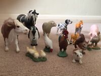 15 x animal figures by Schleich (made in Germany)