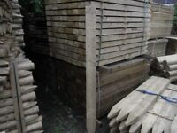 Timber pointed fence post 125mmx75mmx2.1m