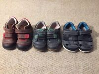 Clarks leather shoes for boys size 5