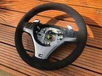 BMW 1 3 series M-Sport Steering Wheel in Genuine Black Alcantara