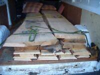 Stunning live-edge alder, pine and oak slabs, timber, wood for doors, table, mantelpiece or desk.