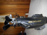 DUNLOP CLUBS AND BAG COMBO