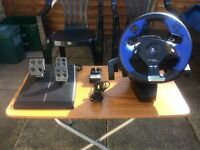 "Logitech ""Driving Force, FORCE FEEDBACK"" gaming wheel pedals etc Reduced £20!"