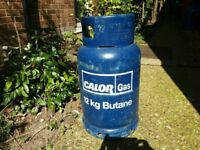 CALOR GAS 12kg BUTANE BOTTLE/CYLINDER - 3/4 FULL