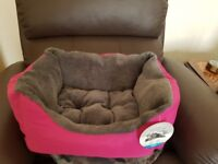 Brand new Pink pets at home dog bed.