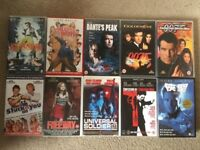 10 Big Box Ex Rental VHS Job Lot Retro