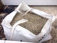 3/4 bulk bag of stone chippings