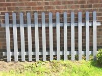 New and Painted 4PC Picket Fences