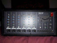 Fender Powered Mixer SR6 520P USA made Six Channels 9 band Grahic EQ 2 Ohm speaker outputs