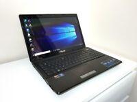 """Asus A53U Laptop 15.6"""",AMD E-450 CPU,320GB HDD,8GB RAM,HDMI,WIFI,DVD,WEB,Windows 10"""