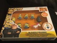 Despicable Me 3 Minions 3D Puzzle Erasers 8 Piece Set