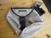 United Colours of Benetton canvas stone colour travel shoulder bag new without tags