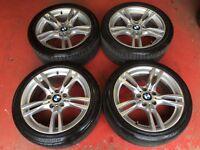 18'' GENUINE BMW F30 M SPORT ALLOY WHEELS TYRES 5X120 E90