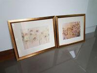 Golden-framed Meadow Flower Pictures