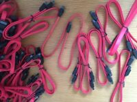 Red Sata Cables, lockable