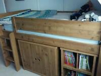 Next Midsleeper Bed, Wardrobe, Chest of Draws & Desk - Immaculate