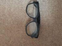 Clear lense glasses - suitable for fancy dress - unused