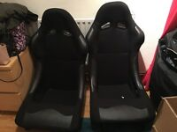 Fixed back bucket seat/ car seat