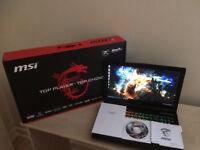 MSI GE62 2QF Apache Pro Pro Gaming Laptop - Intel Core i7-5700 NVIDIA 970M 16GB RAM 1TB HDD 128 SSD