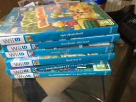 Wii U games for sale £50