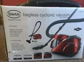 Swan bagless cyclonic vacuum