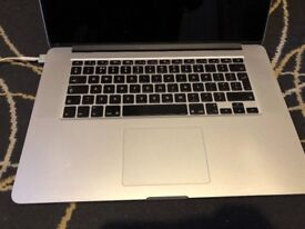 MacBook pro retina (Magic Mouse and case), i7, 8gb RAM, 500GB SSD, New logic board