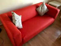 Free ! IKEA Klippan Sofa 2 Seater Red must go, 2 available for pick up in Surbiton.
