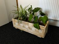 Large hand made pallet wood planter