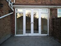 French Patio Doors with side windows upvc