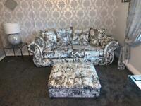Luxury velvet sofa set