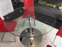 Calligaris Italian Round glass dining table