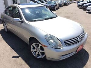 2003 Infiniti G35 Luxury / LEATHER / ROOF / LOADED / ALLOYS