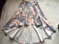 Brand new ladies skirt size 8 grey pink £5
