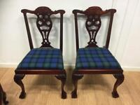 Repro Chippendale style pair of chairs