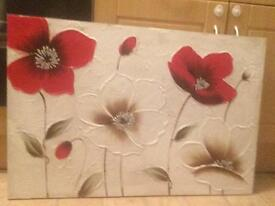Poppy wall art canvas